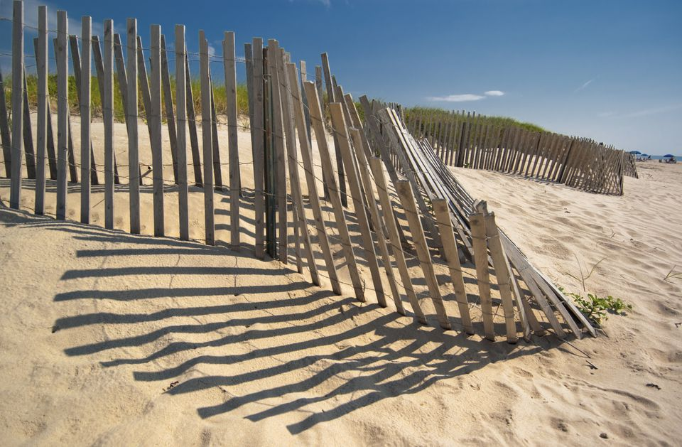 Amagansett beach fence