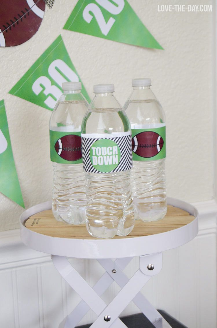 DIY Football Drink Sleeve