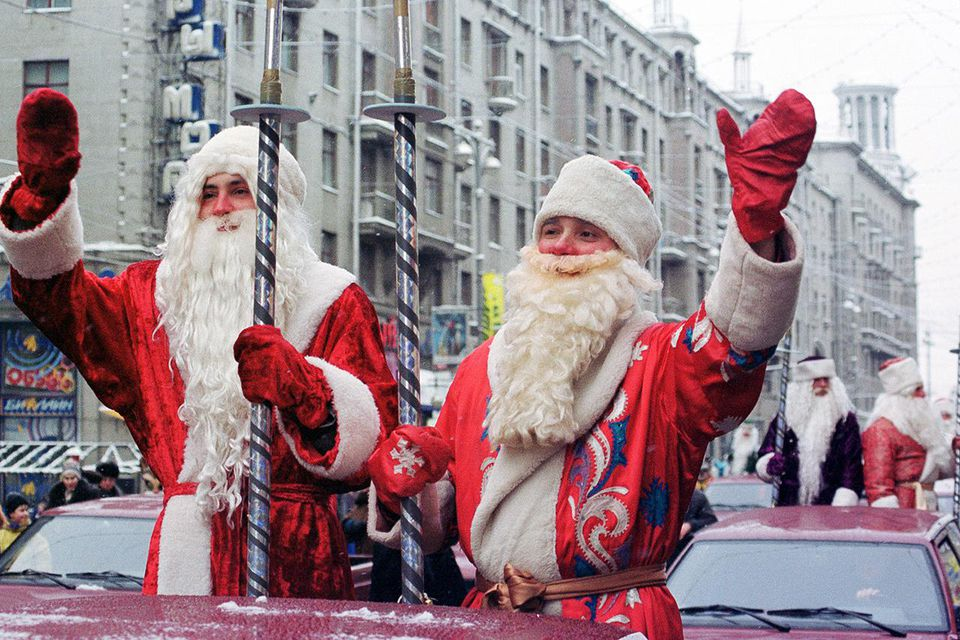 Ded Moroz Dances In Moscow