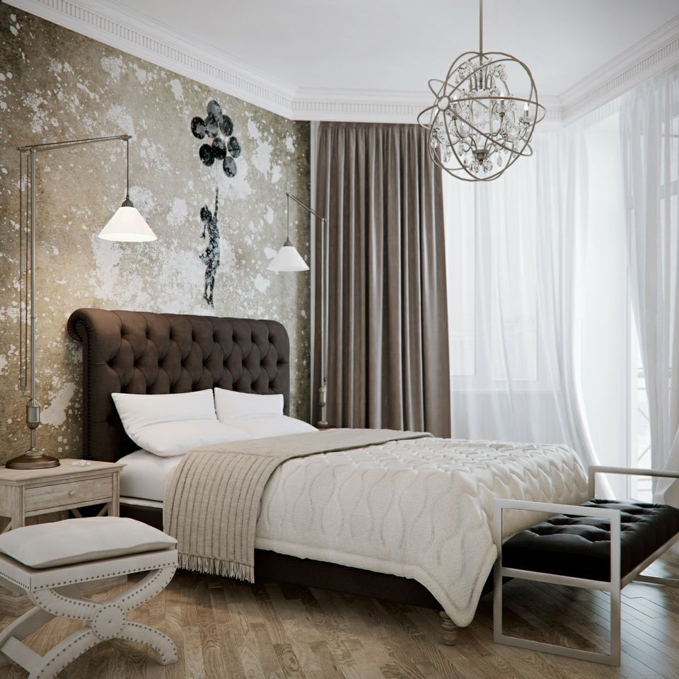 decorate your glamorous bedroom in neutrals
