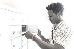 Man checking his mail