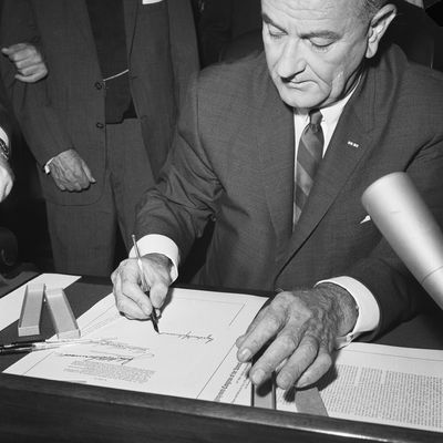 """the great society welfare act introduced by the president lyndon b johnson In his first state of the union address in january 1964, president lyndon b johnson asked congress to declare an """"unconditional war on poverty"""" and to aim """"not only to relieve the symptom of poverty, but to cure it and, above all, to prevent it"""" (1965."""