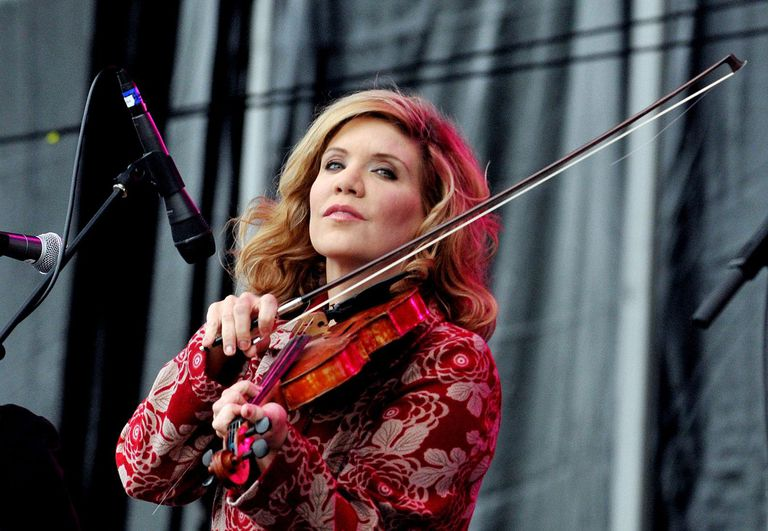 American musician Alison Krauss performs live on stage with Union Station during the third day of Hard Rock Calling at Hyde Park on July 15, 2012 in London, England.