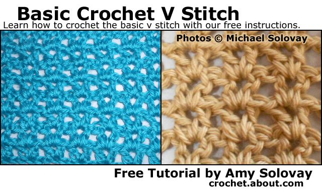 Basic Crochet V Stitch