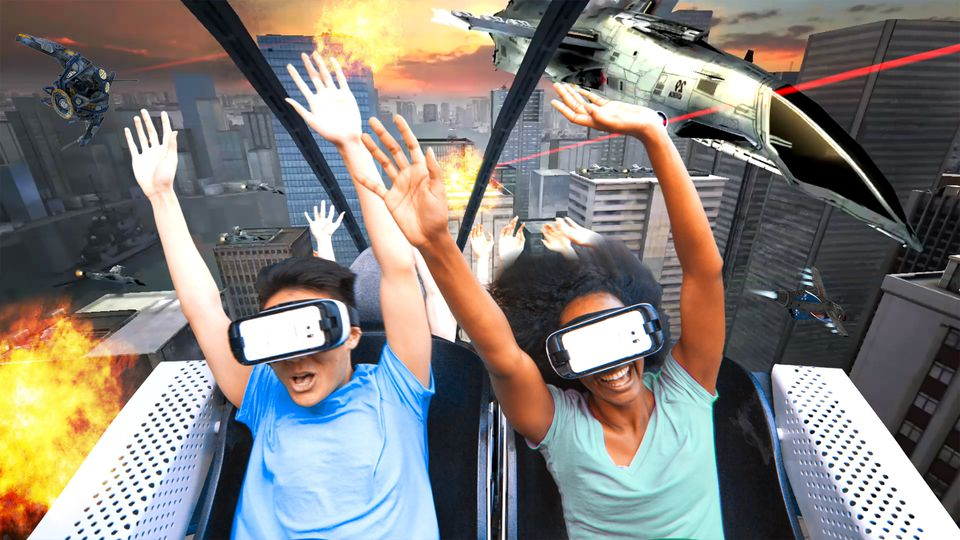 Six Flags virtual reality roller coaster