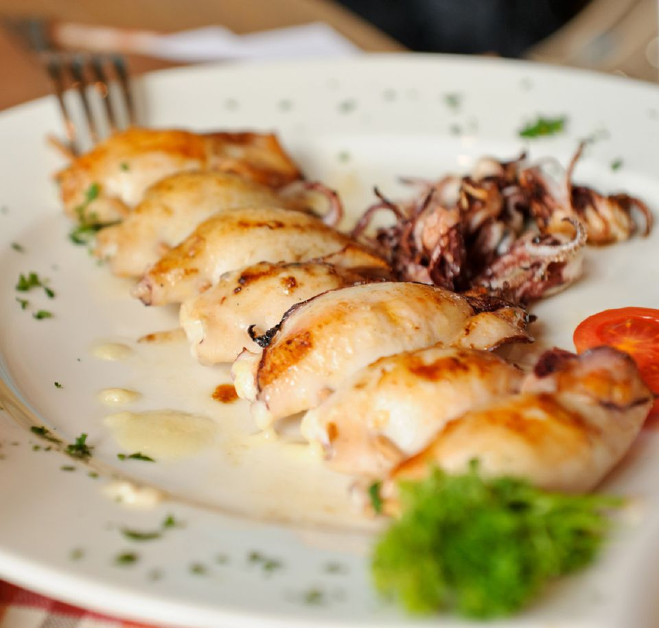 Seared Baby Squid with Parsley and Garlic Recipe