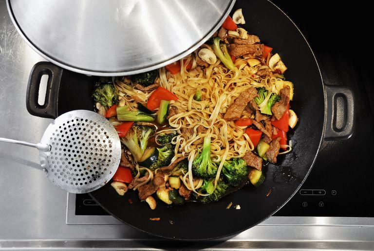 stir fry on the stove