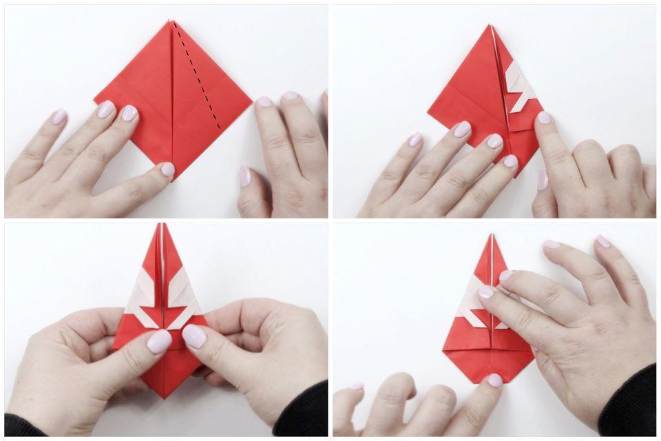 origami santa tutorial 06