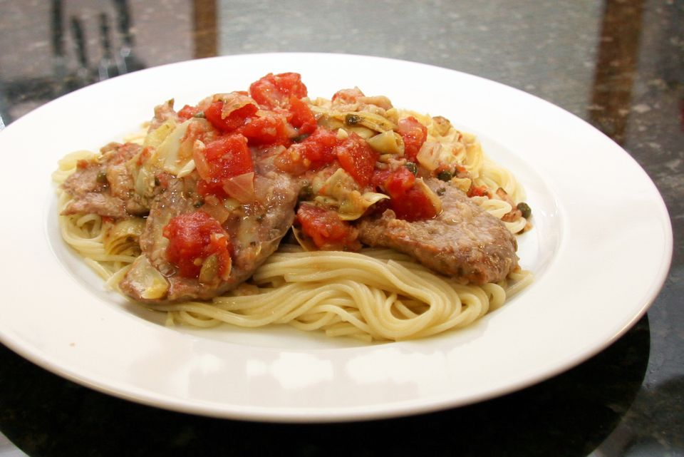 Veal With Tomatoes and Capers