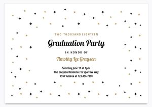 19 free printable graduation invitations templates a black and gold graduation party invite template filmwisefo Gallery