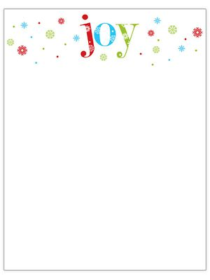 76 free christmas stationery and letterheads free christmas letterhead templates from better homes and gardens joy at the top of a page in red blue and green pronofoot35fo Images