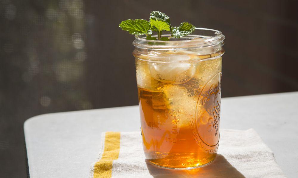 iced tea with mint