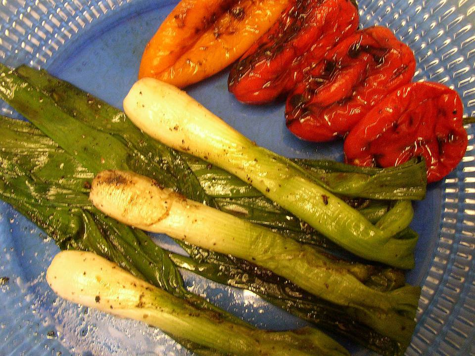 Grilled Onion and Peppers