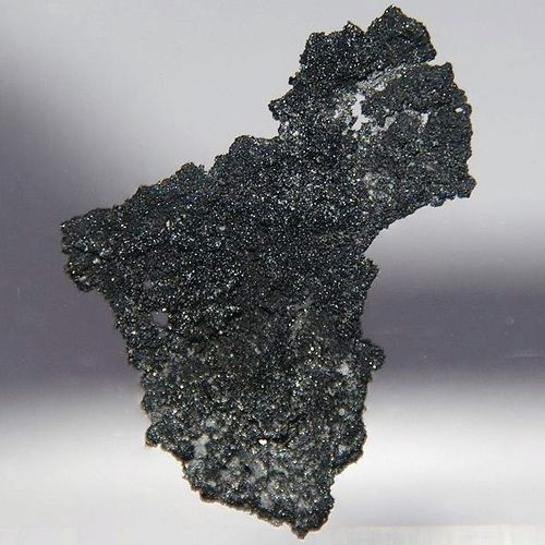 This is a photo of pure crystalline boron. Boron is a lustrous, black semimetal.