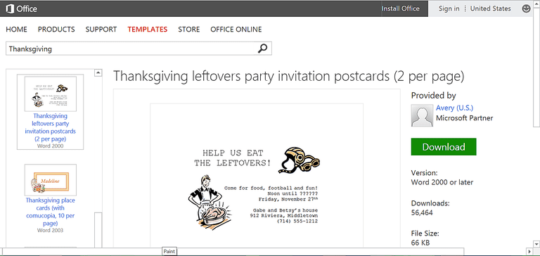 party invite template word