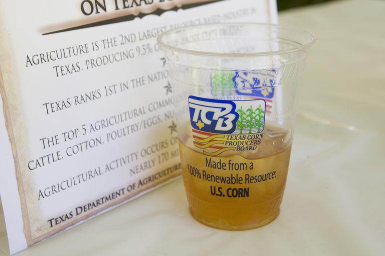 Corn-based plastic cup