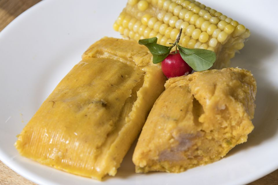 Cuban Traditional Cuisine: Tamales or Tamal Homemade Dish