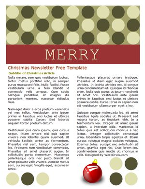49 free christmas letter templates that youll love word draws free christmas letter templates pronofoot35fo Images