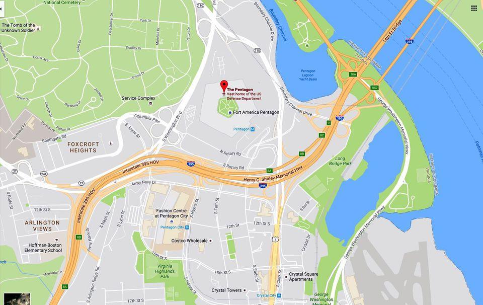 Pentagon and Pentagon City Map