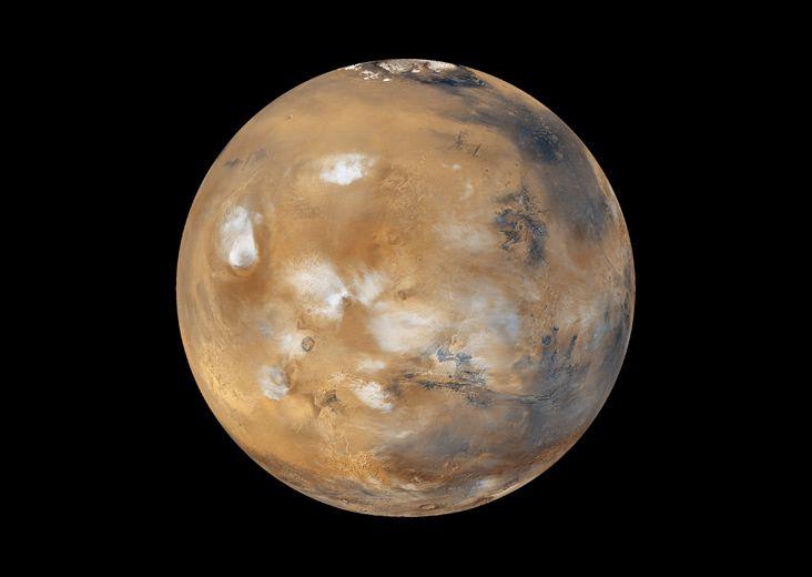 Marte, planeta rojo, gravedad de Marte