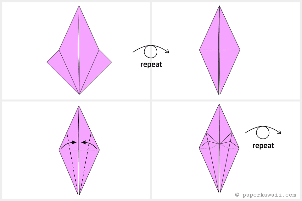 Easy origami crane instructions for How to fold a crane step by step
