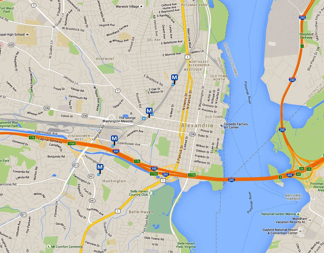 alexandria virginia map. historic triangle maps williamsburgjamestownyorktown