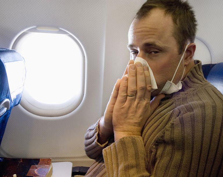 Sick Man on an Airplane