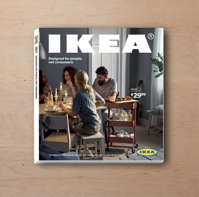 The cover of the 2017 IKEA catalog. Free Mail Order Furniture Catalogs