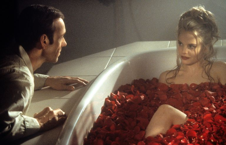 Kevin Spacey And Mena Suvari In 'American Beauty'