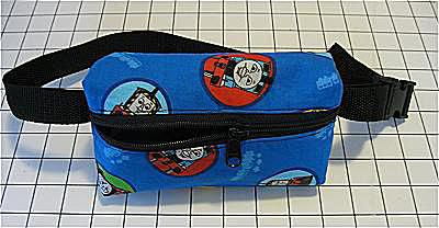 Free pattern and directions to sew a Kid's Hip Pouch or Fanny Pack for Boys or Girls