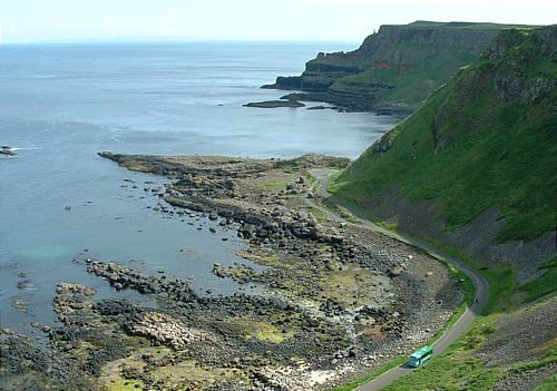 An Aerial View of the Giant's Causeway