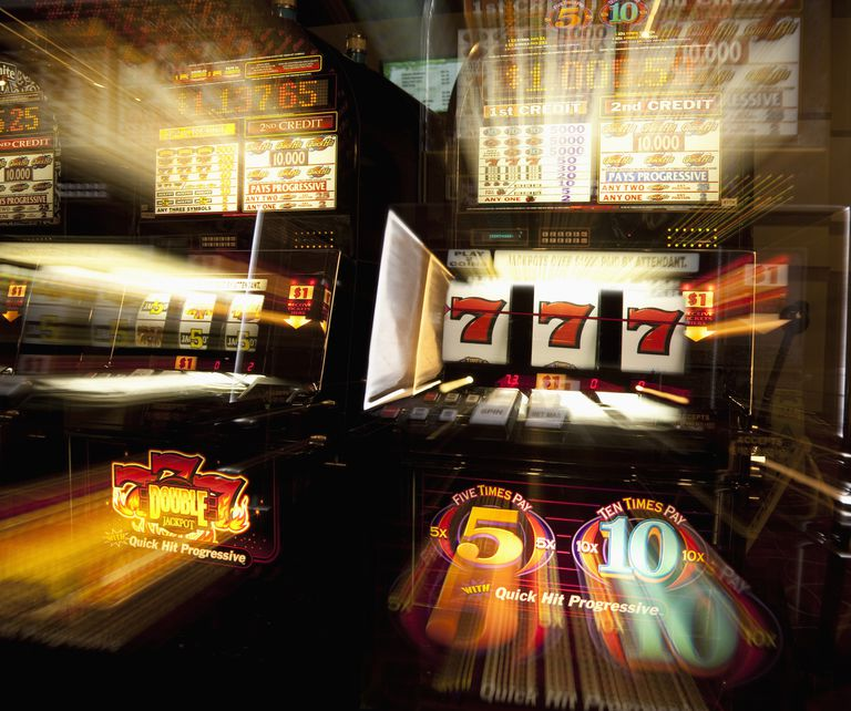 USA, California, Stockton, Casino slot machines