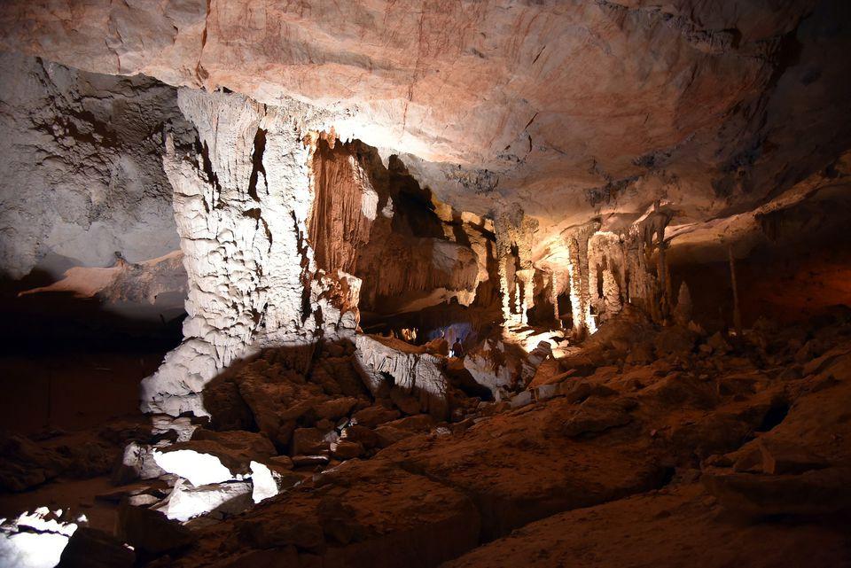 Interior of Tham Kong Lo Cave, Laos
