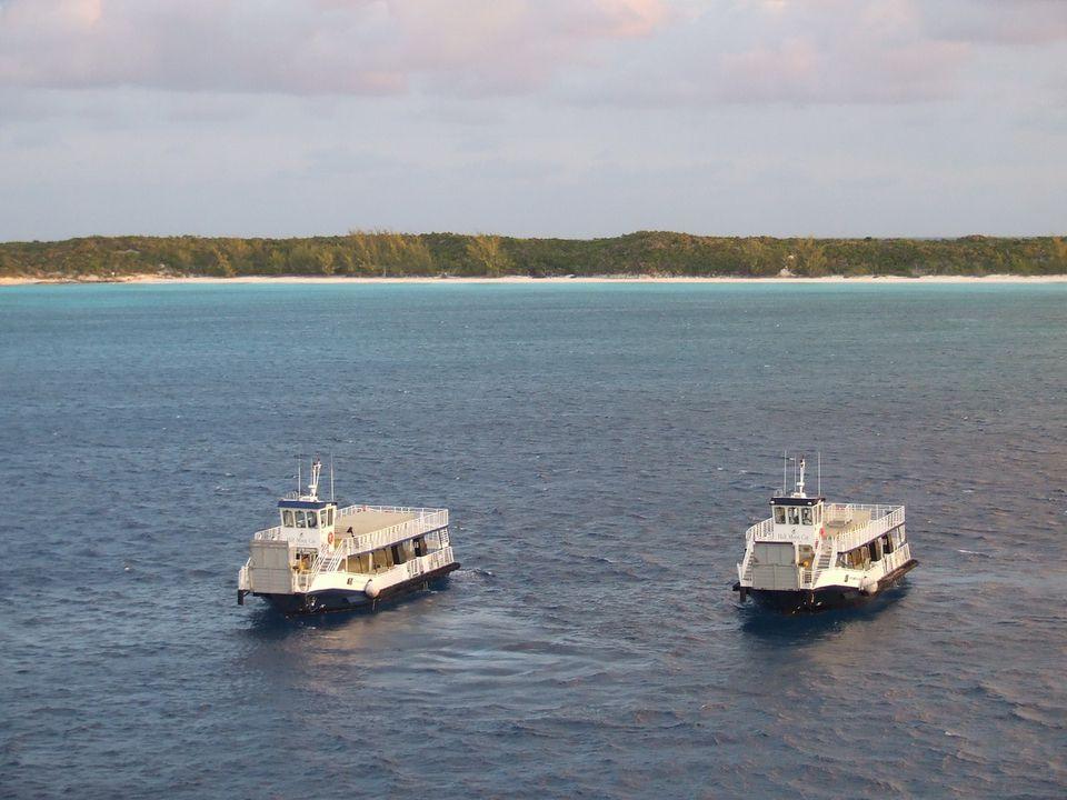 Tenders Greet Holland America Eurodam to Half Moon Cay