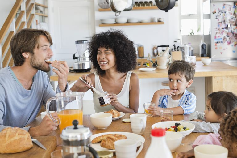 Family breakfast can be easy and healthy.