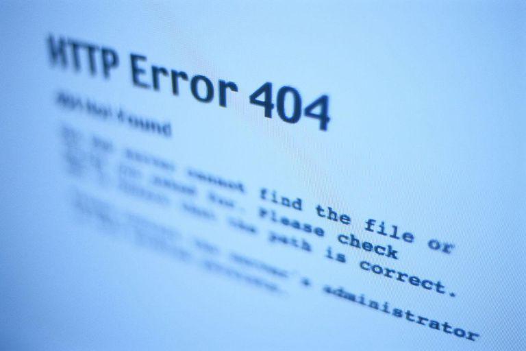 404 Error screen