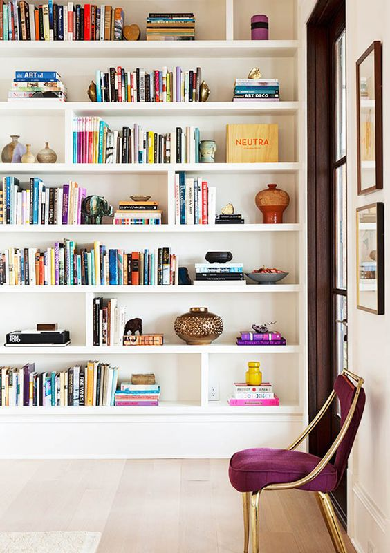 library home design. Home library with colorful books  Marcus Design Libraries 25 Stunning Ideas