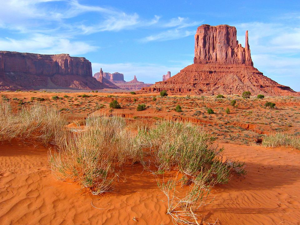 Classic landscape of Monument Valley, in the desert of the American Southwest in Arizona