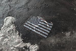 American flag in BP oil spill