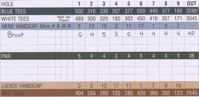Golf Scorecard in Stroke Play