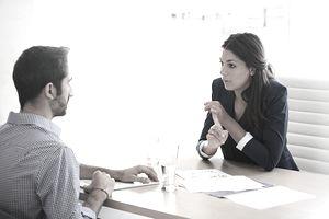 Shot of a businesswoman interviewing a job applicant