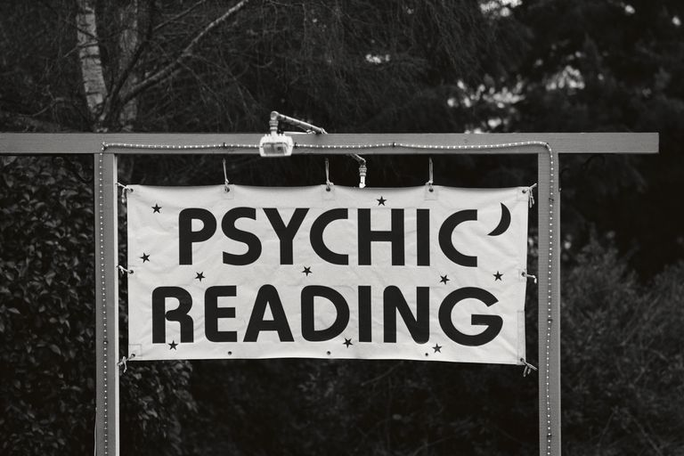 Sign Advertising Psychic Reading