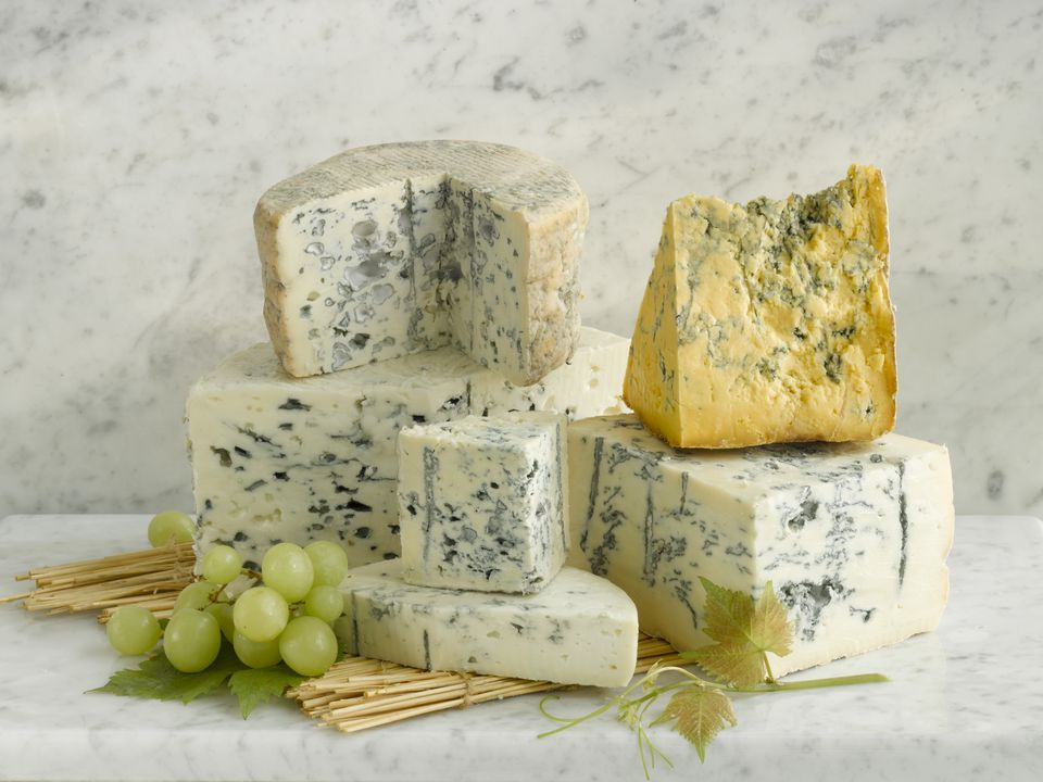 Stilton and Shropshire Blue