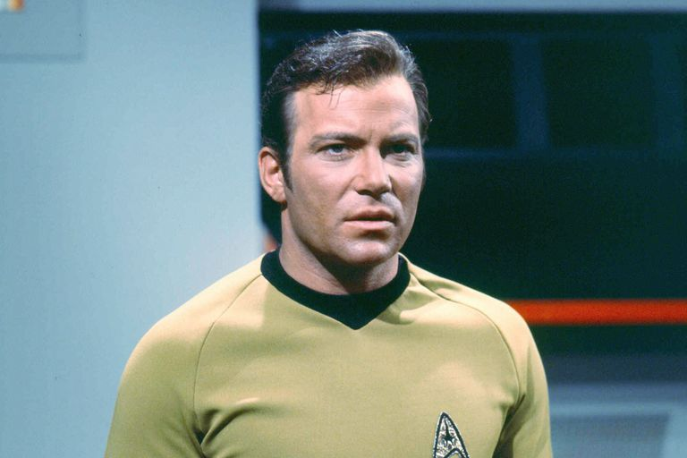 William Shatner as Captain James T. Kirk of the Starship Enterprise