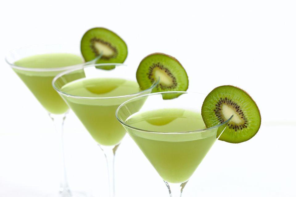 Popular Kiwi Martini with Vodka