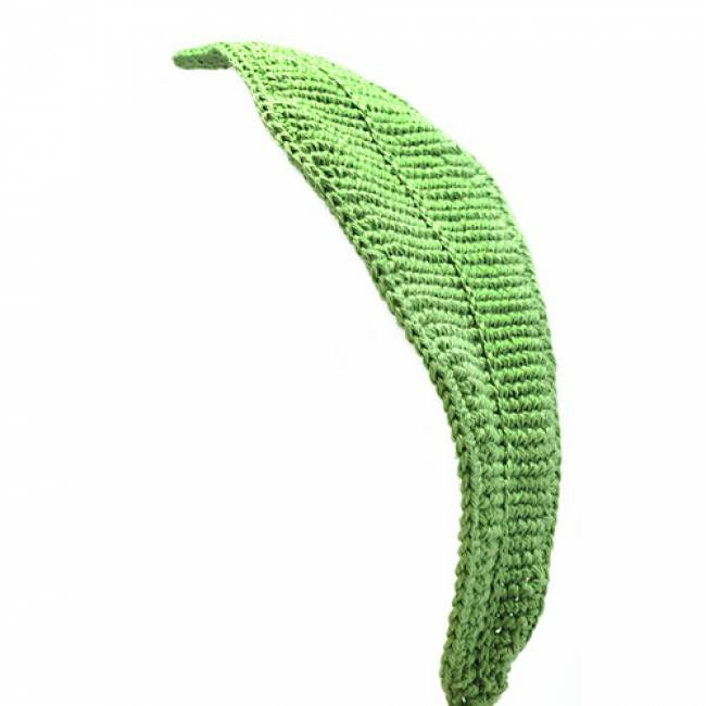 Big Green Leaf free crochet pattern