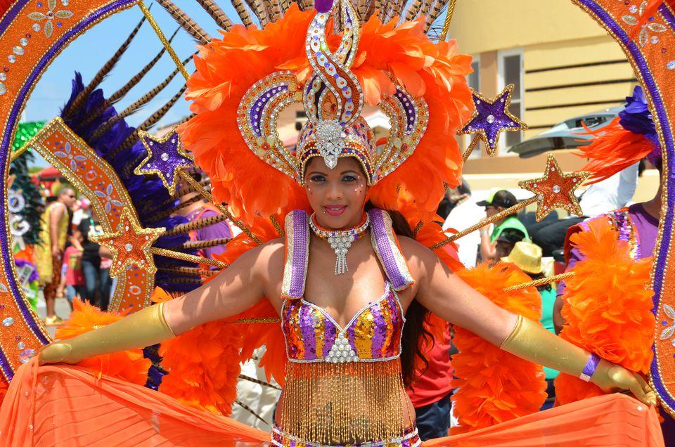 Carnival participant in Aruba