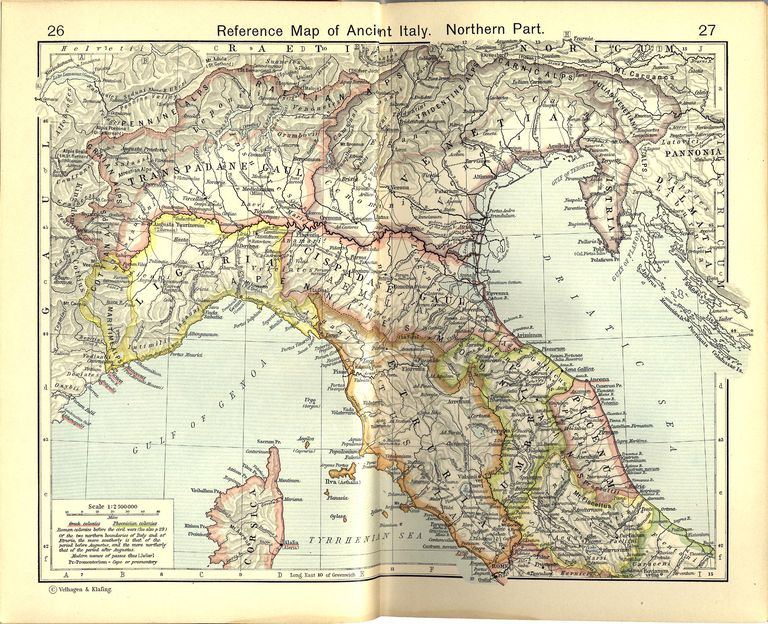 Reference Map of Ancient Italy, Northern Part