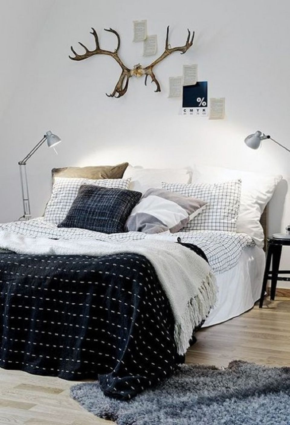 Masculine Scandinavian bedroom