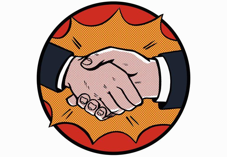 Close of handshake
